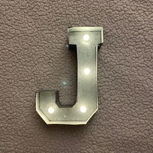Metal Light-Up Letter J